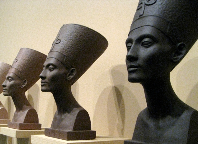 Nefertiti in 'Grey Area (Brown version)' by Fred Wilson