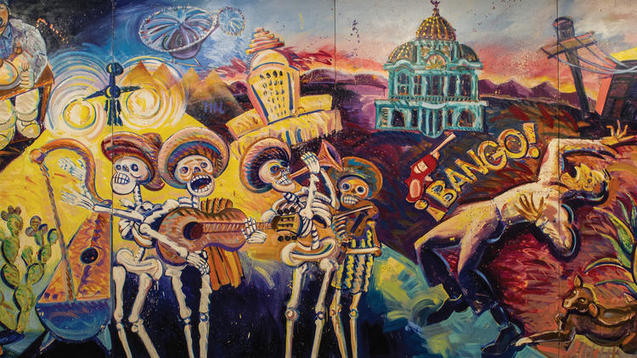 What finally broke the no chicanos rule at the for Painting in los angeles