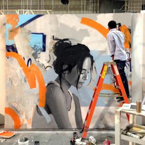 Kohshin Finley's mural installation